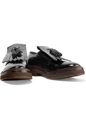 BRUNELLO CUCINELLI Glossed-leather brogues