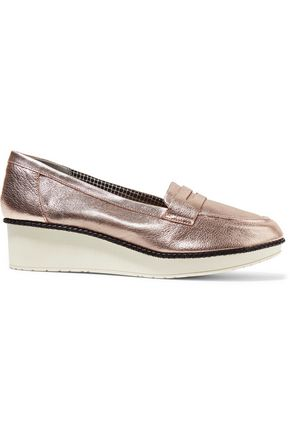 ROBERT CLERGERIE Valerie leather wedge loafers