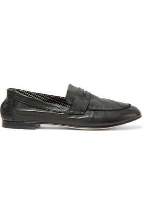 ROBERT CLERGERIE Zemoc textured-leather loafers