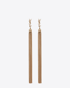 SAINT LAURENT Earrings D LOULOU earrings with chain tassels in light gold-colored brass f