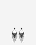 SAINT LAURENT Earrings D MARRAKECH drop earrings in silver brass f