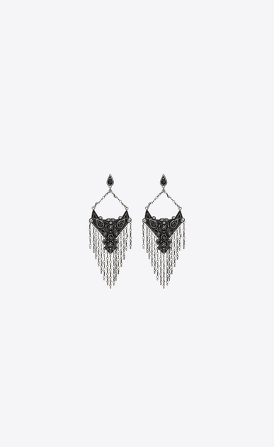 SAINT LAURENT Earrings Woman MARRAKECH drop earrings in silver brass a_V4