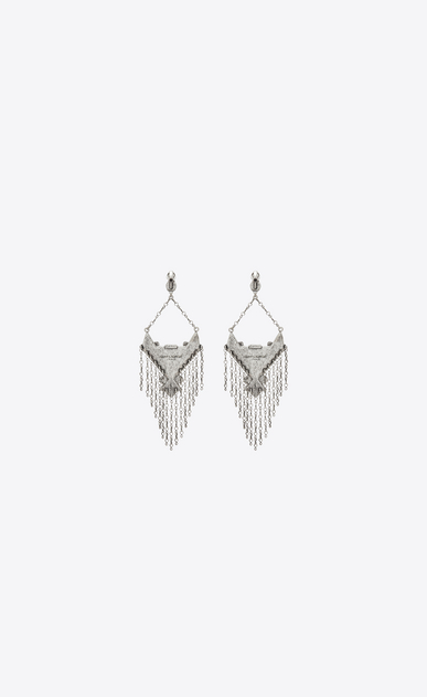 SAINT LAURENT Earrings Woman MARRAKECH drop earrings in silver brass b_V4