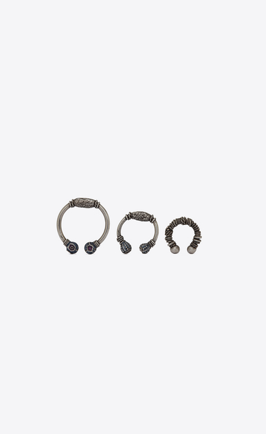 SAINT LAURENT Orecchini D MARRAKECH Berber ear jewelry in silver-toned brass a_V4