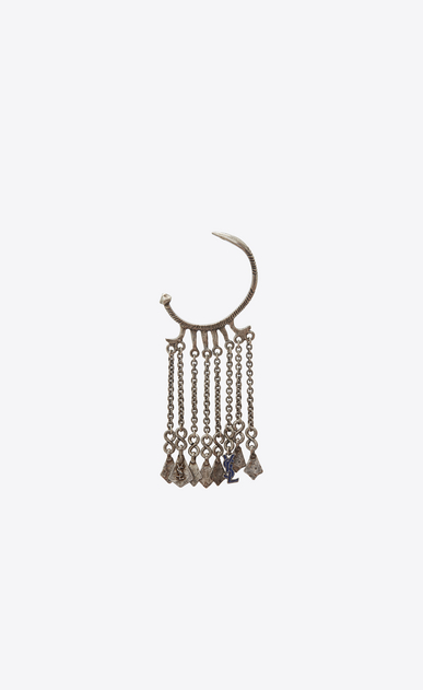 SAINT LAURENT Earrings Woman MARRAKECH ear jewelry in tin and silver-toned brass a_V4
