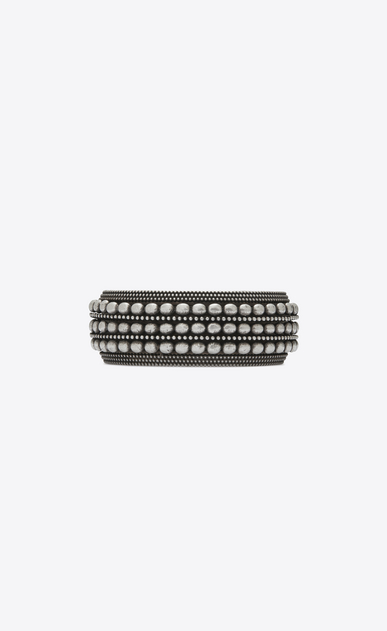 SAINT LAURENT Bracelets Woman MARRAKECH motif bracelet in silver-toned brass a_V4