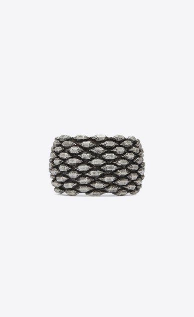SAINT LAURENT Bracelets Woman MARRAKECH cuff bracelet in silver-toned brass a_V4