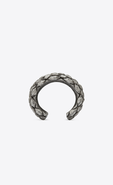 SAINT LAURENT Bracelets Woman MARRAKECH cuff bracelet in silver-toned brass b_V4