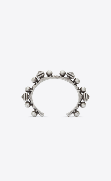 SAINT LAURENT Bracelets Woman MARRAKECH grommet bracelet in silver-toned brass a_V4