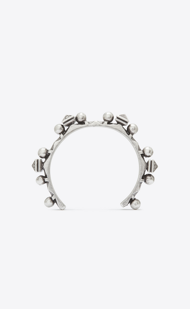 SAINT LAURENT Bracelets Woman MARRAKECH arm bracelet in silver-toned brass a_V4
