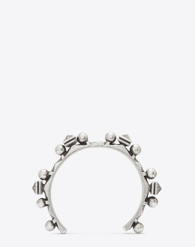 Marrakech Silver-Toned Brass Bracelet in Metallic