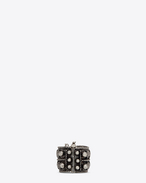 SAINT LAURENT Anelli D MARRAKECH Berber ring in tin and silver-toned brass f
