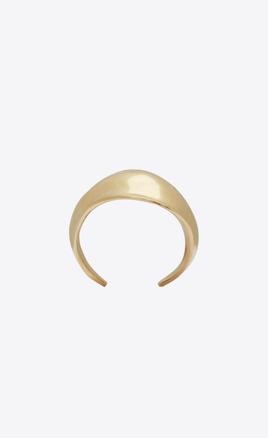 SAINT LAURENT Bracelets Woman TRIBAL cuff bracelet in satiny gold-toned brass a_V4