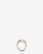 SAINT LAURENT Rings D TRIBAL ring in satiny gold-toned brass f