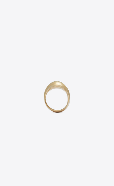 SAINT LAURENT Rings D TRIBAL ring in satiny gold-toned brass a_V4