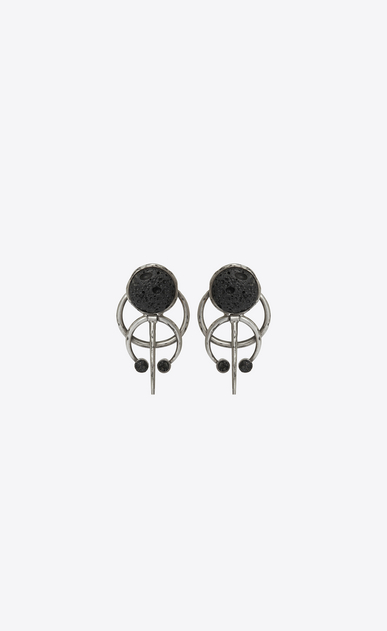 SAINT LAURENT Orecchini D TRIBAL earrings in silver-toned brass a_V4