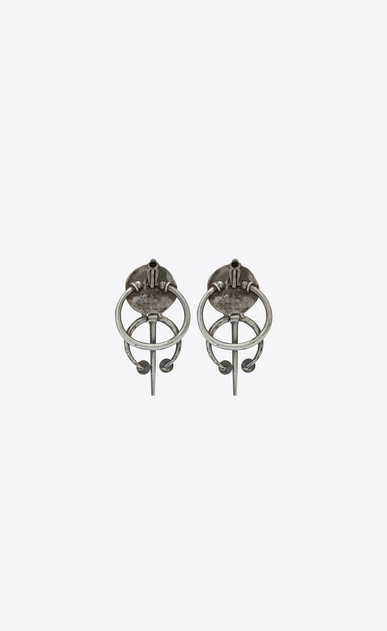 SAINT LAURENT Earrings Woman TRIBAL earrings in silver-toned brass b_V4