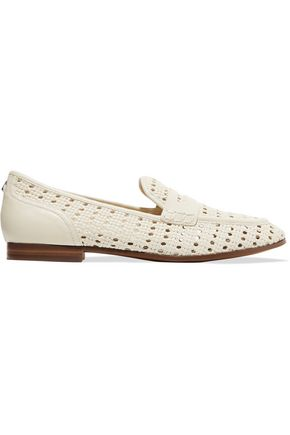 SAM EDELMAN Leora woven leather loafers