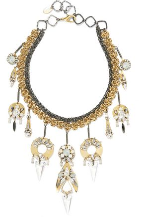 ERICKSON BEAMON Milky Way gold-plated, pewter and crystal necklace