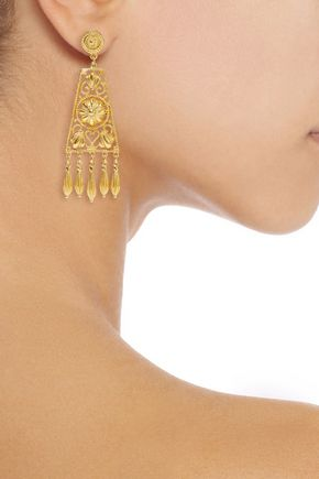 BEN-AMUN Gold-tone earrings