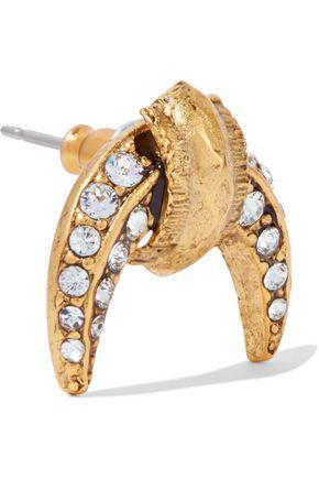 ELIZABETH COLE Luna gold-tone crystal earrings