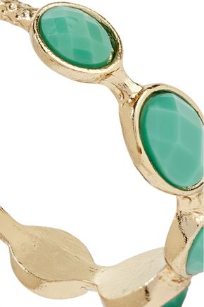 KENNETH JAY LANE Gold-plated stone earrings
