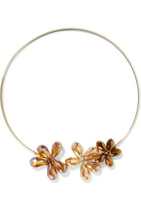 KENNETH JAY LANE Gold-plated stone necklace