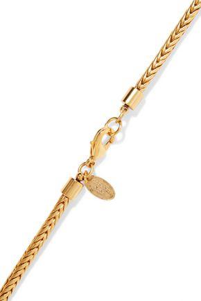 ELIZABETH COLE Marguerite gold-tone necklace