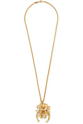 ELIZABETH COLE Marguerite gold-tone necklace