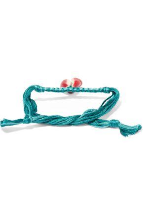 AURÉLIE BIDERMANN Braided cotton cord shell bracelet