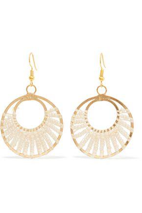 KENNETH JAY LANE Gold-tone beaded earrings