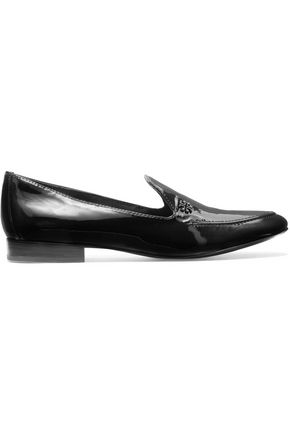 TORY BURCH Dominique patent-leather loafers
