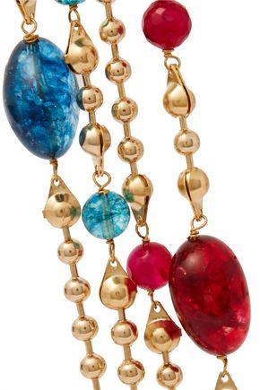 ROSANTICA Gold-tone bead and tassel bracelet