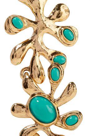 OSCAR DE LA RENTA Sea Tangle gold-plated resin necklace