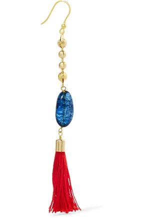 ROSANTICA Gold-tone stone and tassel earrings