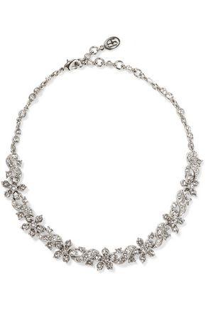 BEN-AMUN Silver-tone crystal choker