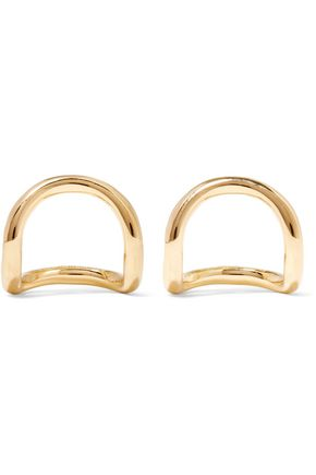 ELIZABETH AND JAMES Moore gold-plated earrings