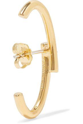 ELIZABETH AND JAMES Leda gold-plated crystal earrings