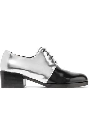 3.1 PHILLIP LIM Jillian two-tone metallic glossed-leather brogues