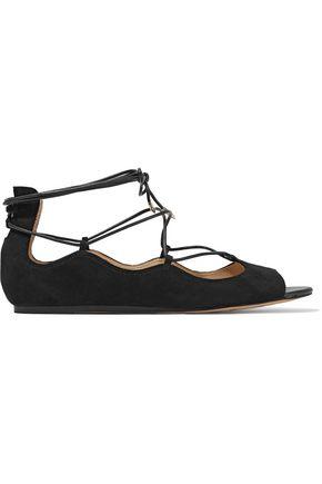 SAM EDELMAN Barbara lace-up suede sandals