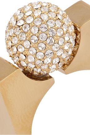 CHLOÉ Darcey gold-tone Swarovski crystal ring