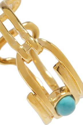 AURÉLIE BIDERMANN Angelica gold-plated turquoise ring