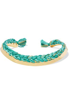 AURÉLIE BIDERMANN Gold-plated braided cotton choker