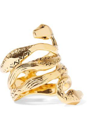 AURÉLIE BIDERMANN Mamba 18-karat gold-plated ring