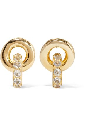 ELIZABETH AND JAMES Neko gold-plated topaz earrings