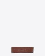 SAINT LAURENT Bracelets Cuir U Bracelet YVES en cuir brun f