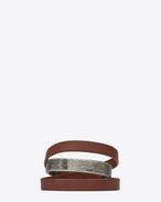 SAINT LAURENT Bracelets Cuir U Bracelet NOMADE triple tour en cuir brun foncé et métal f