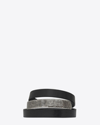 SAINT LAURENT Leather Bracelets U NOMADE three-loop bracelet in black leather and metal. f