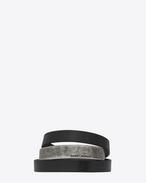 SAINT LAURENT Bracelets Cuir U Bracelet NOMADE triple tour en cuir noir et métal f