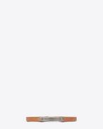 SAINT LAURENT レザーブレスレット U サンローラン IDプレートブレスレット(キャラメル/レザー)  f